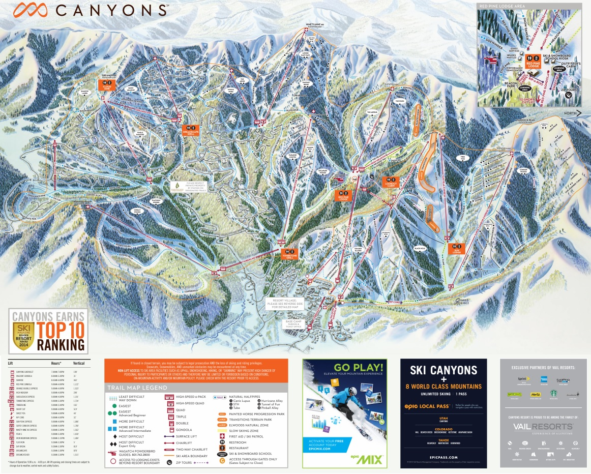 canyons-village-trail-map