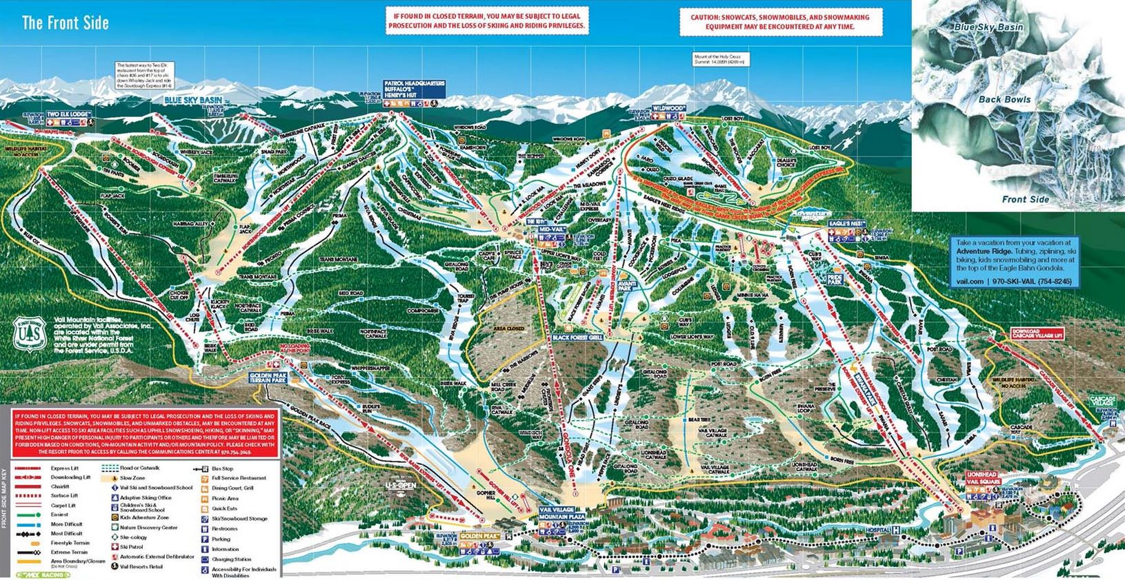 Vail Ski Packages Vail Lodging Deals SkiSync - Map of dive bars in us